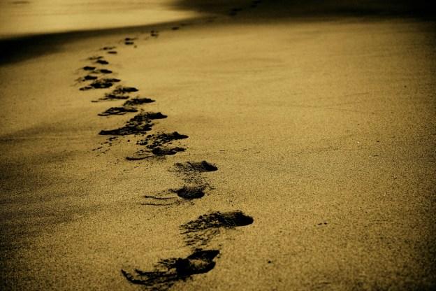 Dấu chân bãi cát