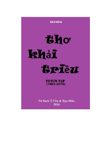 Thơ Khải Triều (Tuyển Tập Thơ 1963-2016)